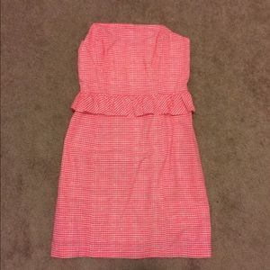 Lilly Pulitzer Neon Pink Strapless Dress